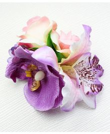 Asthetika Flower Bunch Hair Clip - Purple