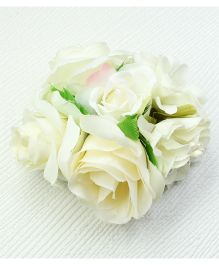 Asthetika Flower Bunch Hair Clip - White