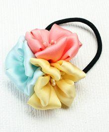 Asthetika Trio Flower Rubber Band - Multicolour
