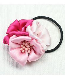 Asthetika Trio Flower Rubber Band - Pink