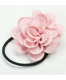 Asthetika Fabric Flower Hair Rubber Band - Pink