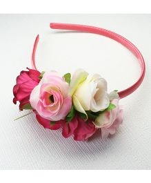 Asthetika Flower Bunch Hair Band - Pink