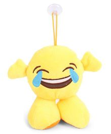 Dimpy Stuff Emoji Soft Toy Yellow - 17 cm