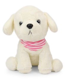 Dimpy Stuff Puppy Soft Toy Cream - 36 cm