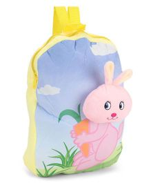 Dimpy Stuff Nursery Bag Bunny Motif Blue Yellow Pink - 13 inch