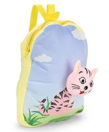 Dimpy Stuff Nursery Bag Kitty Motif Blue Yellow - 13 inch