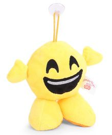 Dimpy Stuff Clip-on Smiley Soft Toy Yellow - 17 cm