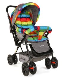 Luv Lap Sunshine Baby Stroller Stripes Multicolour - 18306
