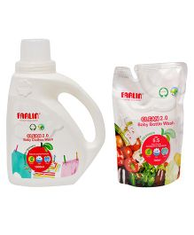 Farlin Eco Friendly Baby Clothing Detergent And Liquid Cleanser Combo
