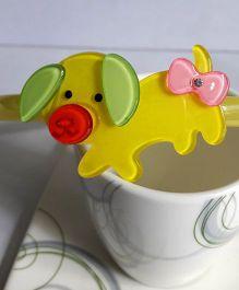 Sugarcart Cute Piggy Motif On Hair Band - Yellow