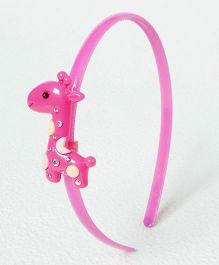 Sugarcart Cute Giraffe With Studs On Hair Band - Pink