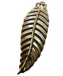 Sugarcart Attractive Leaf On Hair Clip - Golden