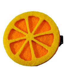 Sugarcart Cute Slice On Aligator Clip - Orange