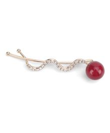 Flaunt Chic Cherry And Stone Wave Clip - Gold