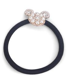 Flaunt Chic Pearl Designed Hair Tie - Black