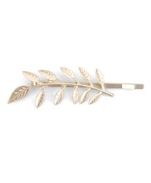 Flaunt Chic Golden Leaves Bobby Pin - Golden