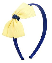 Flaunt Chic Three Layer Bow Hairband - Yellow