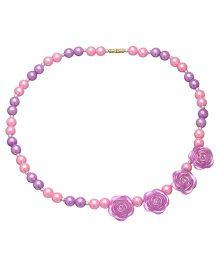 Daizy Pearls & Roses Bracelet - Purple & Pink