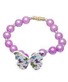 Daizy Pearl & Butterfly Bracelet - Lavender