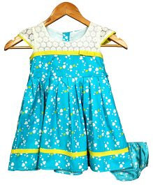 Bella Moda Pretty Heart Print Dress With Bloomer - Blue