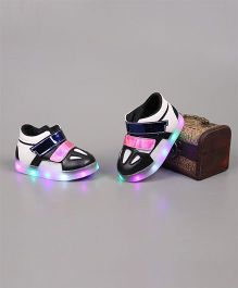 Little Maira Stylish LED Velcro Shoes - Black