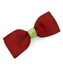 Pink Velvetz Bow Hair Clip - Maroon