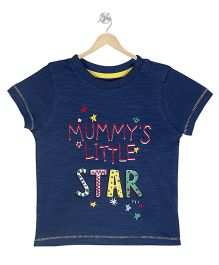 Young Birds Star Printed T-Shirt - Blue