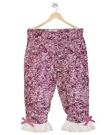 Young Birds Floral Pant - Rasbery Pink