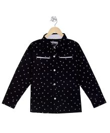 Young Birds Anchor Print Shirt - Navy Blue