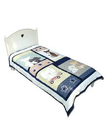 Abracadabra Single Quilt And Bedcover Animal Design- Multi Color