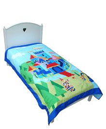 Abracadabra Single Quilt And Bedcover Castle Design - Multi Color