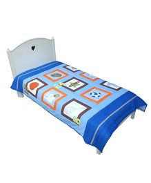Abracadabra Single Quilt And Bedcover Multi Design - Blue