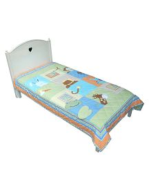Abracadabra Single Quilt And Bedcover Animal Design - Multi Color