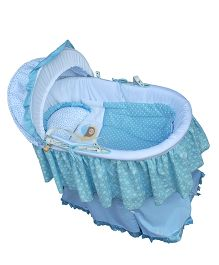 Abracadabra Bassinet Bedding Set With Stand - Blue