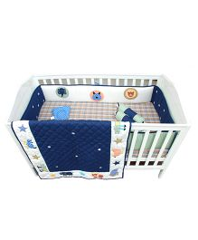Abracadabra Cot Bedding Set Animal Design Blue - 6 Pieces
