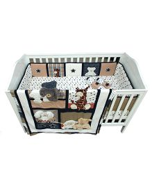 Abracadabra Cot Bedding Set Forever Friend Brown - 6 Pieces