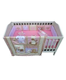 Abracadabra Cot Bedding Set Tender Heart Pink - 6 Pieces