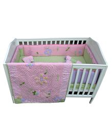 Abracadabra Cot Bedding Set Gabriella Pink - 6 Pieces