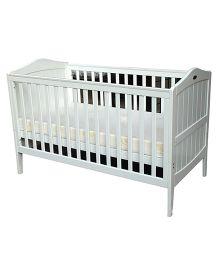Abracadabra Crib Wooden Cot - White