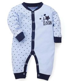 Wonderchild Fullsleeves Romper Star Print - Blue