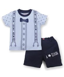 Wonderchild 2 Piece Round Neck T-Shirt & Shorts - Blue