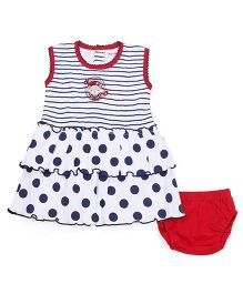 Wonderchild Sleeveless Frock With Bloomer - Multicolor