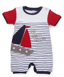 Wonderchild Half Sleeves Cotton Nautica Shortall - Multi
