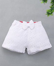 Soul Fairy Lace Shorts With Bow - White