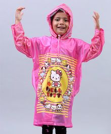 Babyhug Raincoats Hello Kitty Print - Pink