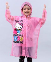 Babyhug Raincoat Hello Kitty Print - Pink