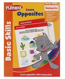 Playskool Kindergarten Learn Opposites Workbook - 32 Pages