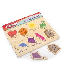Playskool Raised Piece Wooden Puzzle - Multicolor