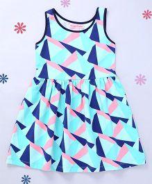 CrayonFlakes Geometric Design Dress - Navy Blue