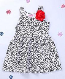 CrayonFlakes Animal Print Dress - Grey